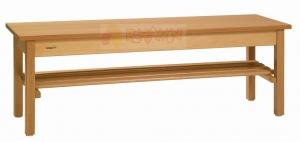 Lavička s roštem délky 1000 mm hranatá