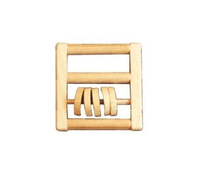 Chřestítko s dřevěnými kolečky