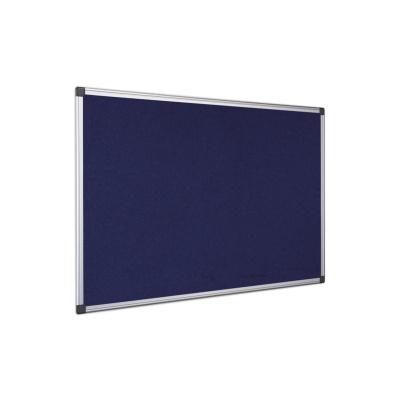 Textilní filcová tabule, hliníkový rám, modrá