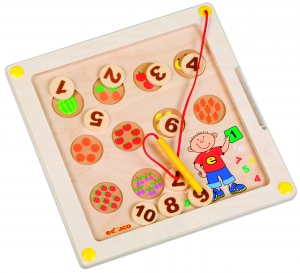 Magnetická tabulka - počítání ovoce