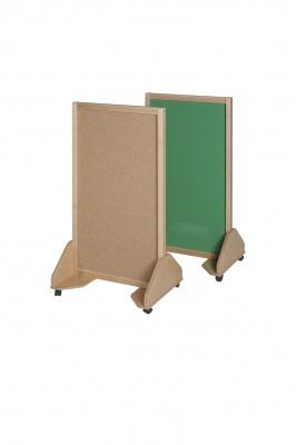 Pojízdná tabule oboustranná magnetická a korková