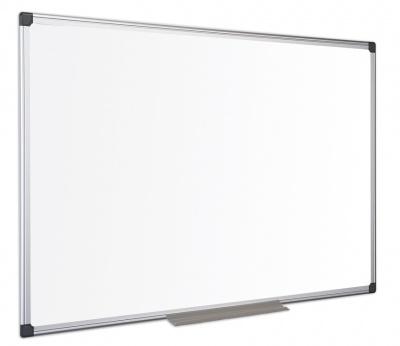 Bílá magnetická tabule keramická 120x90, hliníkový rám