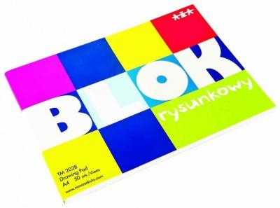 Blok-bílý papír A4 - 50 ks