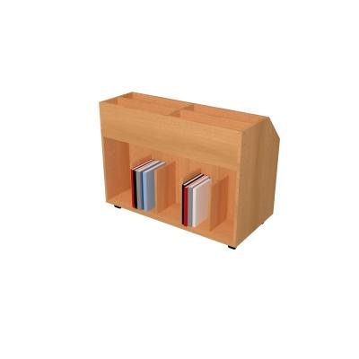 vozík na knihy s výstavkou