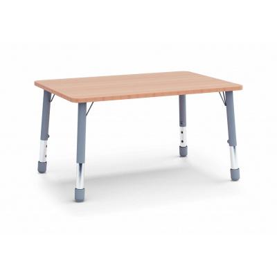 Stůl obdélník 120 x 80  / v. 46 - 59 cm
