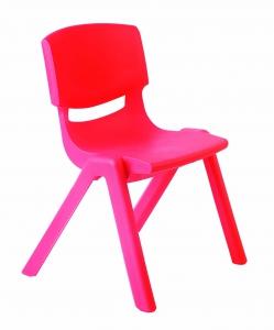 Plastová židle, v.26 cm, červená