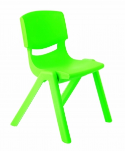 Plastová židle, v.26 cm, zelená