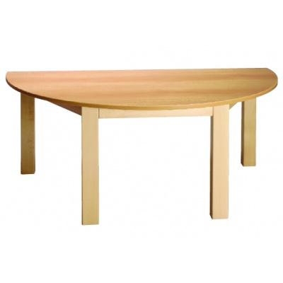 Stůl půlkulatý 120x60/46 barva desky O, J, G, B