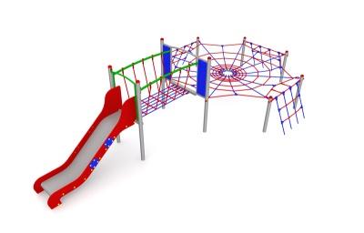Pavoučí síť se skluzavkou Arax 3