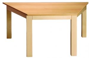 Stůl lichoběžník 120x60/46barva desky O, J, G, B