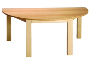 Stůl půlkulatý 120x60/46 barevný