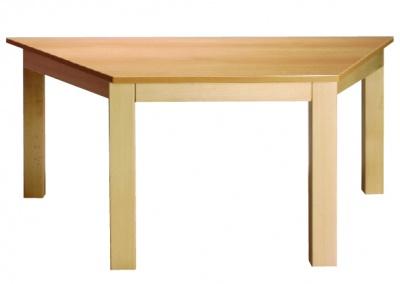 Stůl poloviční šestiúhelník 117x52/64 barva desky O, J, G, B