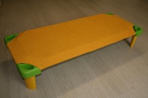 Froté prostěradlo 135x67cm k plastovému lehátku oranžové, zkosené rohy