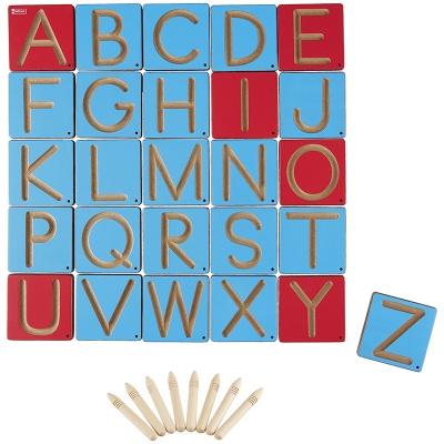 Grafomotorické šablony velká písmena