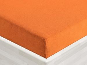 Froté prostěradlo 135x60cm k plastovému lehátku tmavě oranžové 16, zkosené rohy