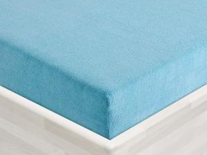 Froté prostěradlo 135x60cm k plastovému lehátku modré 09, zkosené rohy