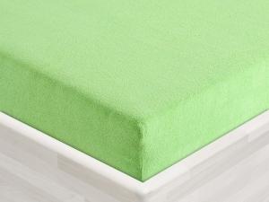 Froté prostěradlo 135x60cm k plastovému lehátku světle zelené 17, zkosené rohy