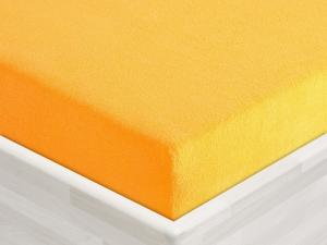 Froté prostěradlo 135x60cm k plastovému lehátku  tmavě žluté 04, zkosené rohy