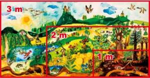 "Obraz ,,Naše krajina"" 1000 x 500 x 10 mm"