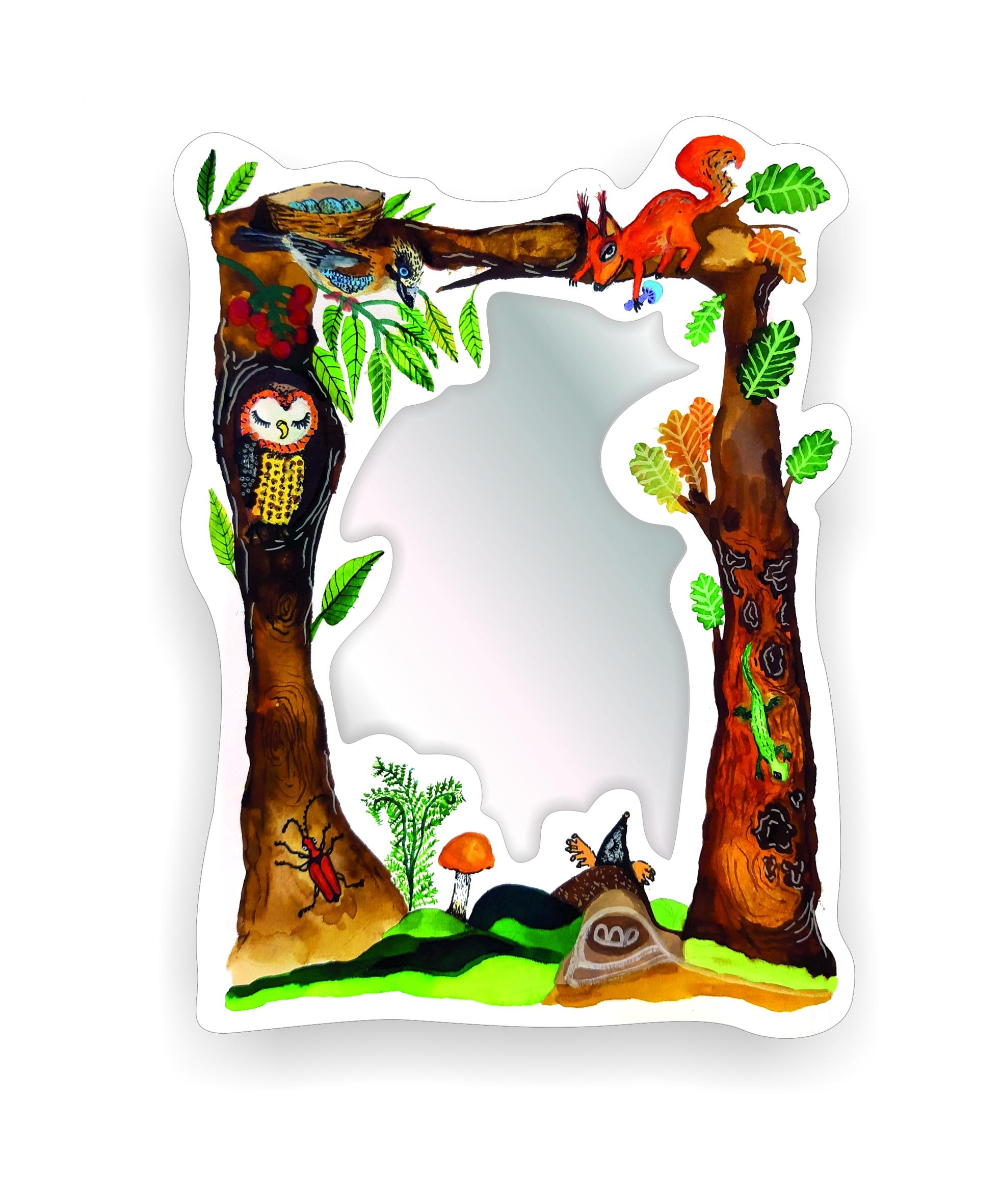 Dětské zrcadlo Zvířátka