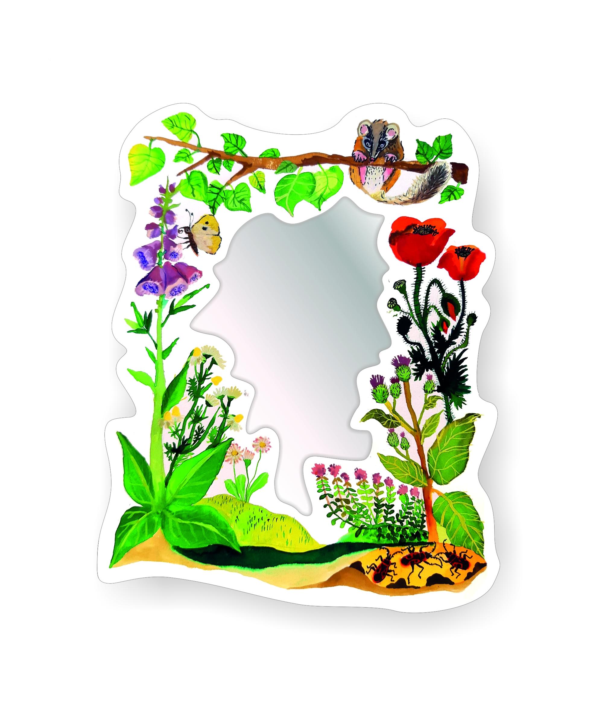 Dětské zrcadlo Kytičky