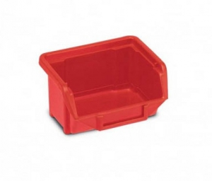 Plastový kastlík dílenský, červený