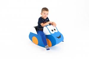 Molitanové autíčko houpací modré