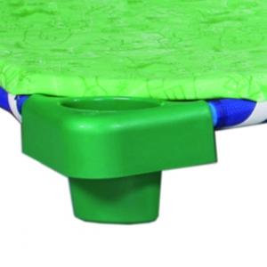 Matrace 4 cm s vloženou podporou zad na plastové lehátko, bez vzoru