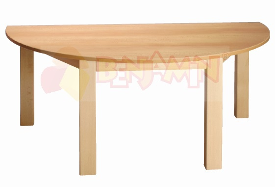 Stůl půlkulatý 120x60/52 deska barva 0, J, G, B