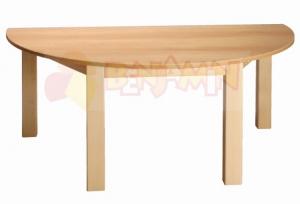 Stůl půlkulatý 120x60/64 deska barevná