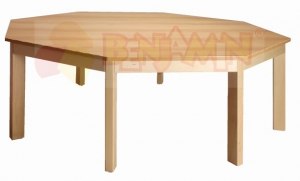 Stůl osmiúhelník 141,5/58 deska barva 0, J, G, B