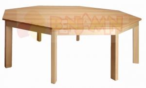 Stůl osmiúhelník 141,5/58 deska barevná