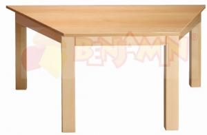 Stůl lichoběžník 120x60/64 deska barevná