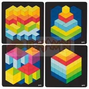 3D puzzle - sada 4 ks