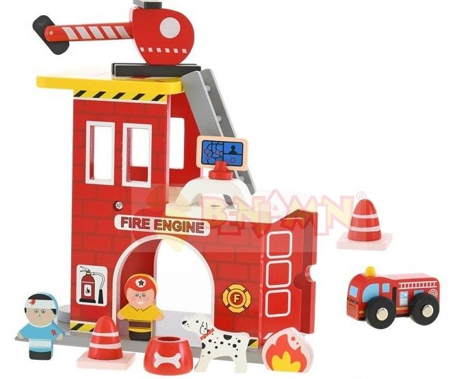 Dřevěná sada - hasiči