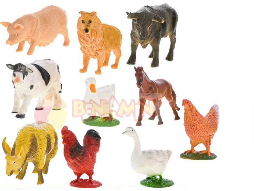 Zvířátka farma - sada 12 ks