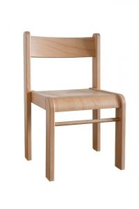Židlička Bambi stohovatelná v.34 přírodní