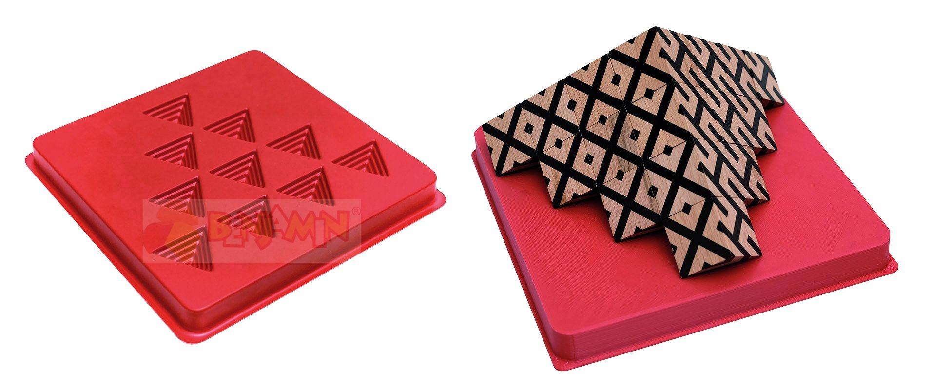 3D stojan na kostky s pracovními kartami
